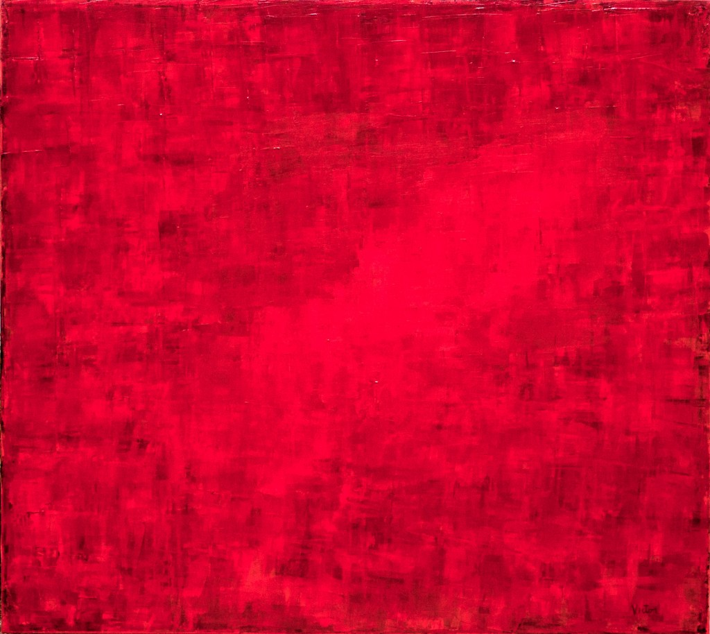 Red Realm acrylic on canvas abstract Jim Victor Charleston, SC