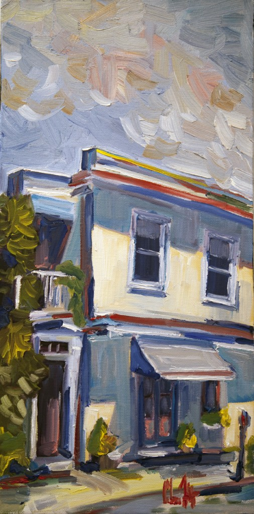 Queen Street I oil architecture Chris Fulp Charleston,SC