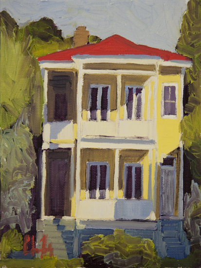 Queen Street II oil architecture Chris Fulp Charleston, SC