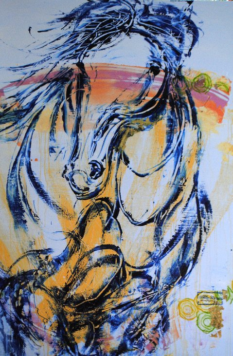 Moments With Wild Horses #157 acrylic on canvas Karen Keene Day Charleston, SC