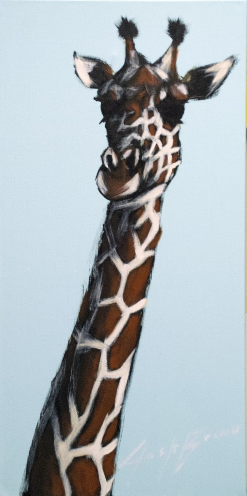 Blue Giraffe by Josh Brown
