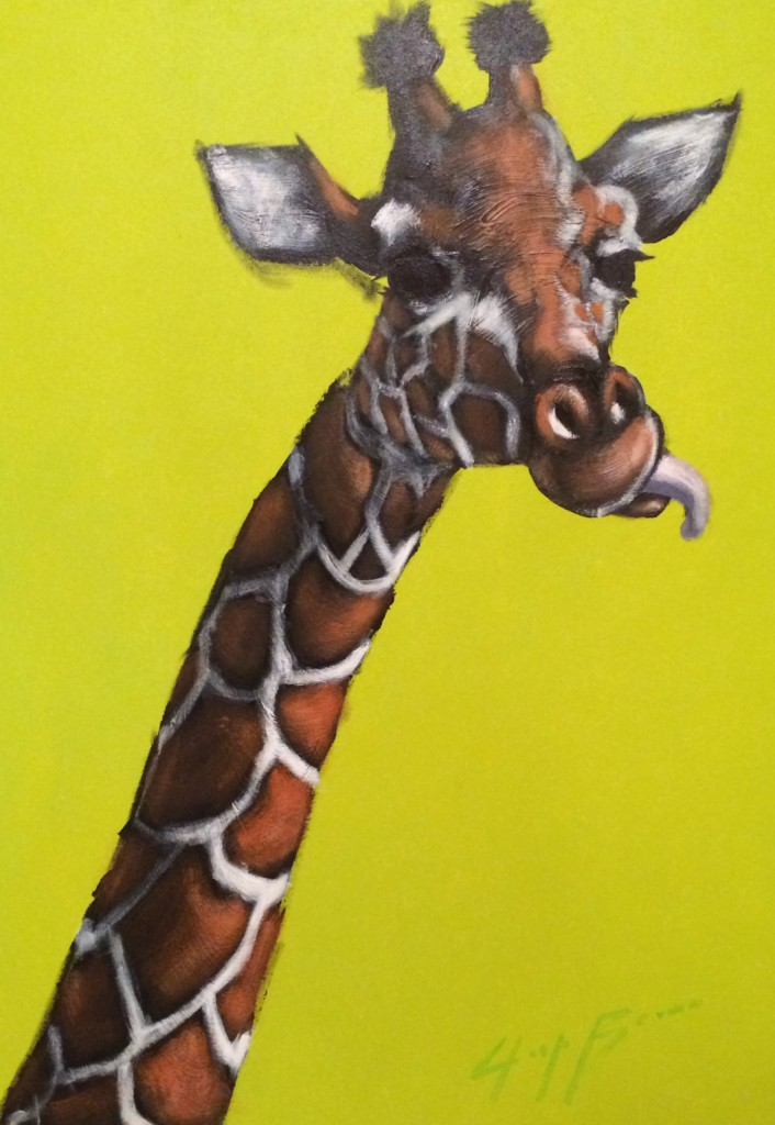 Neon Green Giraffe by Josh Brown