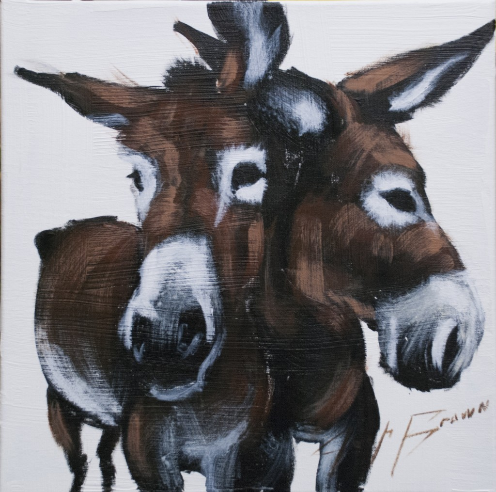 Two White Donkey by Josh Brown